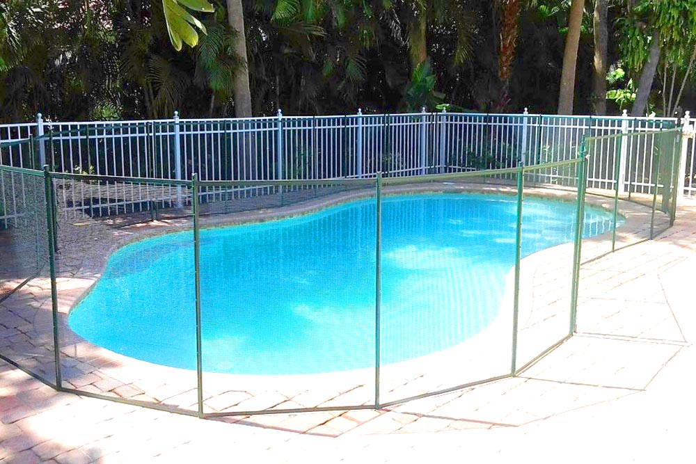Pool Fence green swimming pool fences - baby guard pool fence